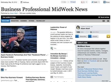 May 30 - Business Professional MidWeek News | Business Futures | Scoop.it