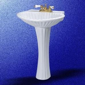 "Pedestal Sinks White China Harborside 4"" Centerset | Home Renovation | Scoop.it"
