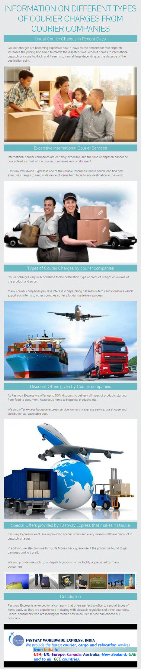 Information on Different types of Courier Charges from Courier Companies by www.fastwayindia.com   fastwayindia   Scoop.it