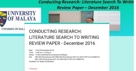 conducting a preliminary literature review essay Multiple book review essay  the design elements and procedures for conducting the research are  to help frame your proposal's literature review,.