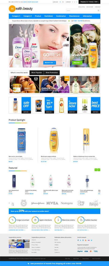 Healthy & Beauty, Opencart Clean Minimalistic Shop Theme | Premium Download | Premium Opencart Themes | Scoop.it