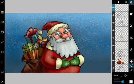 How to Draw Santa Using PicsArt | Drawing and Painting Tutorials | Scoop.it