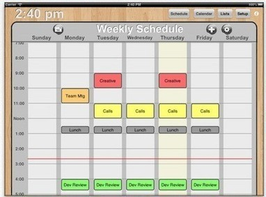 Quickly sketch out class or meeting schedules with Weekly Schedule for iPad | iPads, MakerEd and More  in Education | Scoop.it
