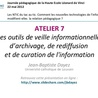 Documentation et sciences de l'information