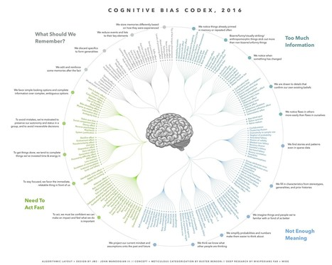 Le CODEX des biais cognitifs | Cartes mentales | Scoop.it