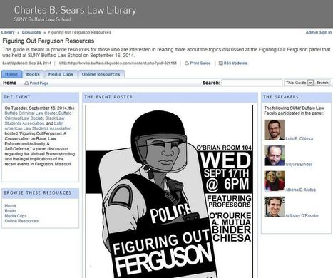 Figuring Out Ferguson Resource Guide - Law Library News University at Buffalo Libraries | Library Collaboration | Scoop.it