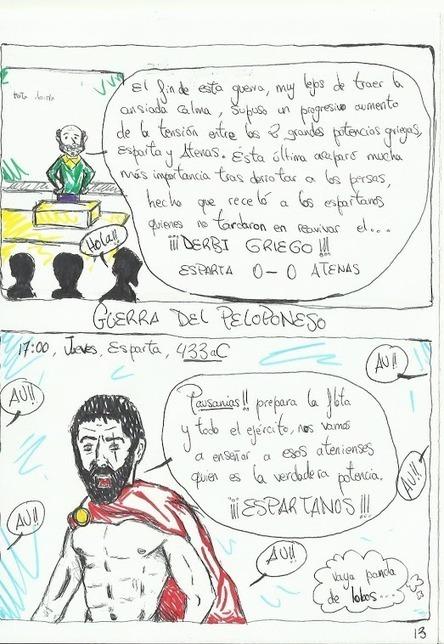 Las guerras Médicas y la guerra del Peloponeso en viñetas | Griego clásico | Scoop.it