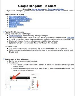 A Must Have Google Hangout Tip Sheet | 21st Century Literacy and Learning | Scoop.it