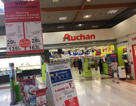 #Carrefour vs #Auchan : ça castagne à Lyon ! #guerredesprix #Dauvers70 | notre métier le commerce ! | Scoop.it