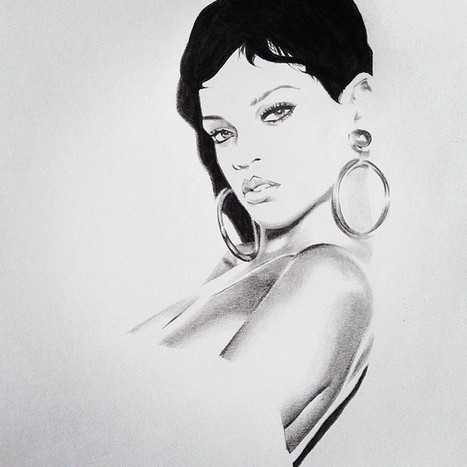 With a little light effect… #rihanna #sketch #drawing #graphite ...   Dessin   Scoop.it