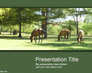 Horses PowerPoint Template | Free Powerpoint Templates | horse | Scoop.it