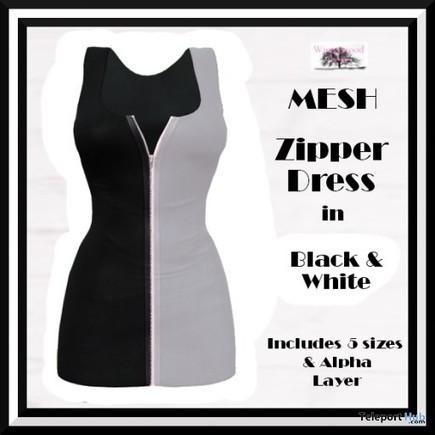 Zipper Dress Black & White Group Gift by WinTeRwooD Designs | Teleport Hub - Second Life Freebies | Second Life Freebies | Scoop.it