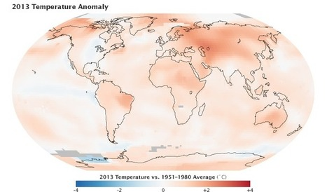 NASA Earth Observatory: 2013 Continued the Long-Term Warming Trend | Amazing Science | Scoop.it
