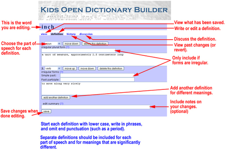 The Kids Open Dictionary Builder | Cool Online Tools for Education | Scoop.it