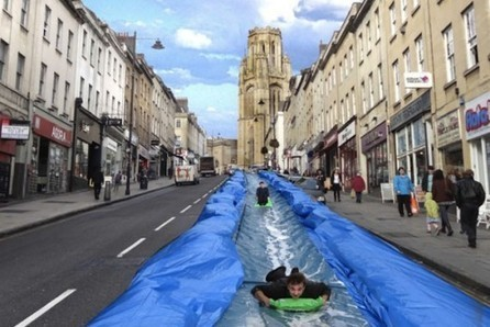 Giant Water Slide Provides New Form Of Urban Transport | Twitter | Scoop.it