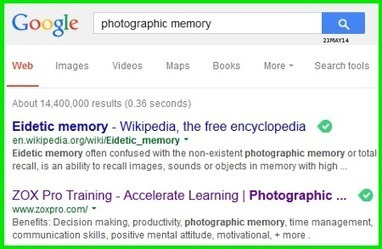 The Photographic Memory – A Picture is Worth a Thousand Words | ZOXPro Training | Scoop.it