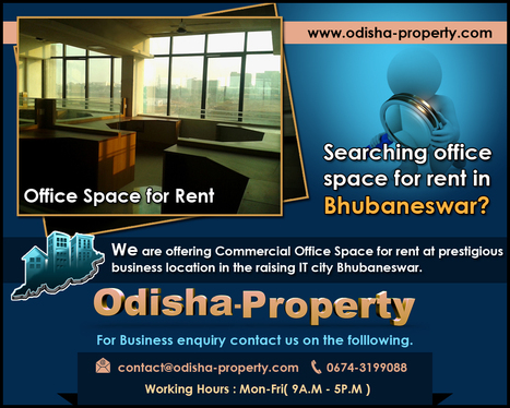 Searching office space for rent in Bhubaneswar | Real Estate Property Portal | Scoop.it