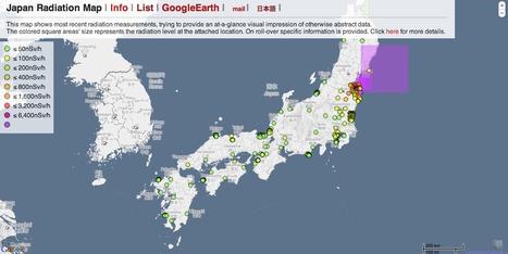 Japan Radiation Map   Mapping & participating: Fukushima radiation maps   Scoop.it