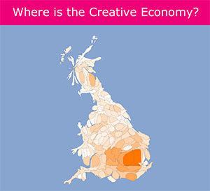 Interactive data visualisation of the UK's creative economy | Non-Equilibrium Social Science | Scoop.it