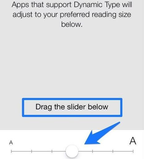 Enable Dynamic Text Size In Apps That Support It With iOS 7 Beta [iOS Tips] | Macwidgets..some mac news clips | Scoop.it