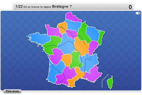 Régions de France jeux quizz pédagogiques | Remue-méninges FLE | Scoop.it