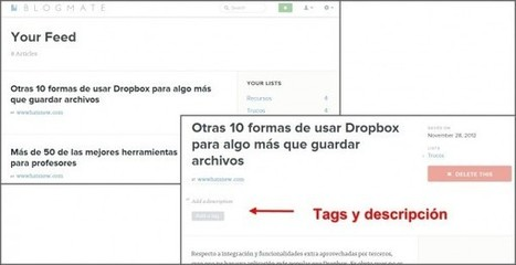 Blogmate, una nueva forma de coleccionar los mejores artículos de la web y crear notas en ellos | Las TIC y la Educación | Scoop.it