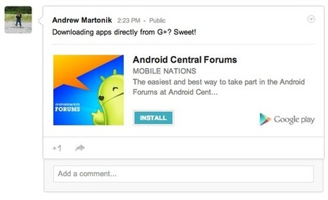 Google+ now implementing Play Store direct download links for apps | Android Central | Just Android! | Scoop.it