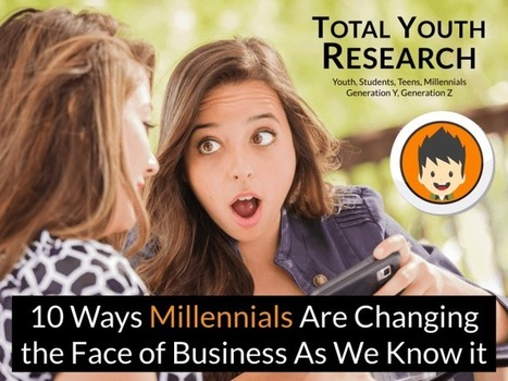 10 Ways Millennials Are Changing the Face of Business - Total Youth Research | Social Media, Curation, Content Today | Scoop.it