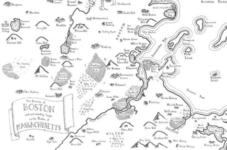 Real cities drawn as fantasy maps   Geo-visualization   Scoop.it