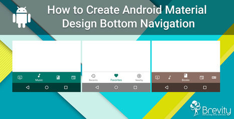 Android Material Design Bottom Navigation | Web and Mobile App Development Company | Scoop.it