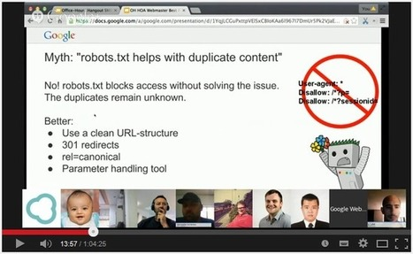 [Google Hangout] : Bonnes Pratiques SEO données par John Mueller de Google | SYLVIE MERCIER | Scoop.it