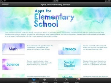 Featured in the iPad App Store this Week: Apps for Elementary Schools | Education in Elementary Schools | Scoop.it