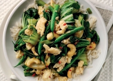 Spicy Eggs and Greens Stir-fry Recipe : Cook Vegetarian Magazine | Food for Foodies | Scoop.it
