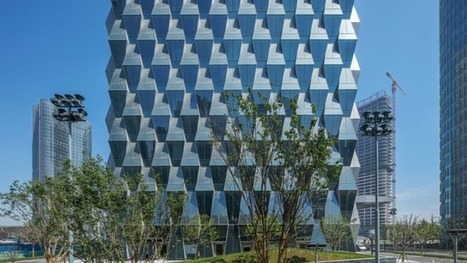 Beijing tower reflects on energy efficiency with trapezoidal glass facade | Real Estate Plus+ Daily News | Scoop.it