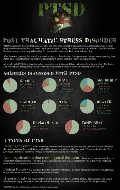 Soldiers & Post Traumatic Stress Disorder (PTSD) Infographic | PTSD & Adventure Therapy Curation | Scoop.it