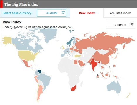 The Big Mac index - Interactive Currency Comparison Tool | Currency | Scoop.it