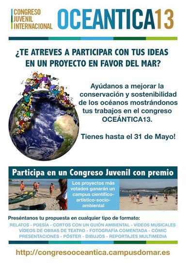 Congreso Juvenil Internacional: Oceántica 13   (Todo) Pedagogía y Educación Social   Scoop.it