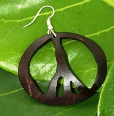 Coconut Peace Symbol Earrings | Jewelry Making & Beginning Stain Glass | Scoop.it
