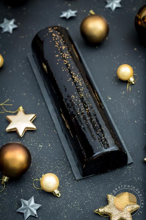 Bûche Black Satin - Chocolat et praliné de sésame noir et de pignons de pin (sans gluten) - Sucre d'Orge et Pain d'Epices | Passion for Cooking | Scoop.it