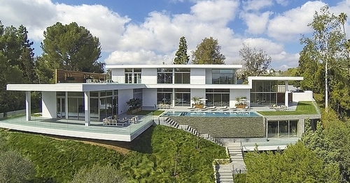 Villa contemporaine par quinn architects holmby hills bel air los angeles - Los angeles maison de star ...