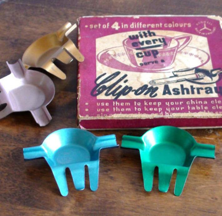Vintage Metal Clip - On Ashtrays | Kitsch | Scoop.it