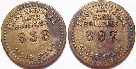 CIGAR STAND FIRST NATIONAL BANK BUILDING Tulsa, Oklahoma Good For 5 Trade Tokens | Coins Tokens & Medals | Scoop.it
