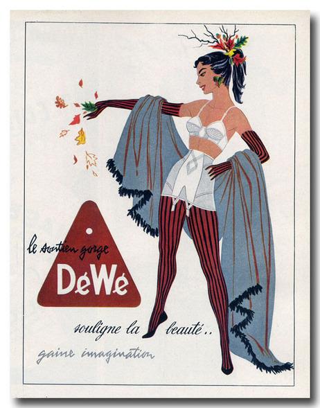Soutien gorge Dewe 1954 | publicité | Lingerie grande taille | Scoop.it