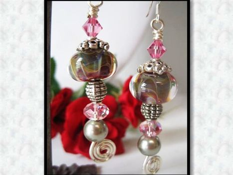 @DonnaBeads Boro Glass Berry Blue Lampwork Earrings | Ebay,Etsy,Amazon | Scoop.it