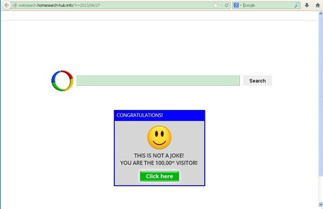Remove Help: Stop Websearch.homesearch-hub.info from Redirecting - Tee Support Blog   browser malware   Scoop.it