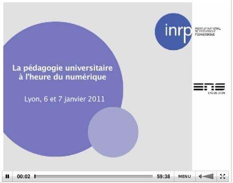 [conférence] Pédagogie, université et numérique : paradigmes de recherche et cultures d'action (1/5) | Enseignement Supérieur et Recherche en France | Scoop.it