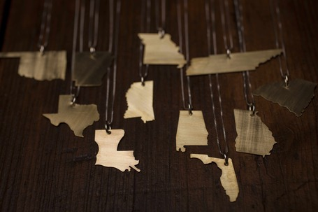 State Shape Necklaces | Geography Education | Scoop.it