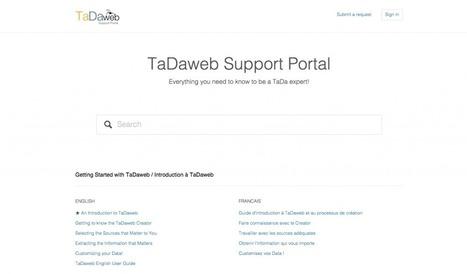 Logiciel de veille TaDaweb : des tutoriels en français (sur le portail d'aide officiel) | Outils et  innovations pour mieux trouver, gérer et diffuser l'information | Scoop.it