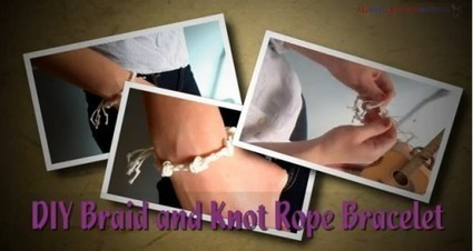 Knot and Braid Rope Bracelet - Jewelry Making Tutorial | DIY Macrame Jewelry Tutorials | Scoop.it