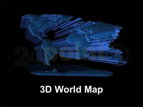 World Map - 3D PowerPoint Template   PowerPoint Presentation Tools and Resources   Scoop.it